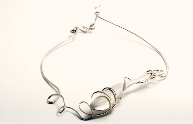 Collier hollow form argent-min